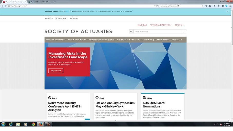 Registering For An Actuarial Exam Actuarial Science Club